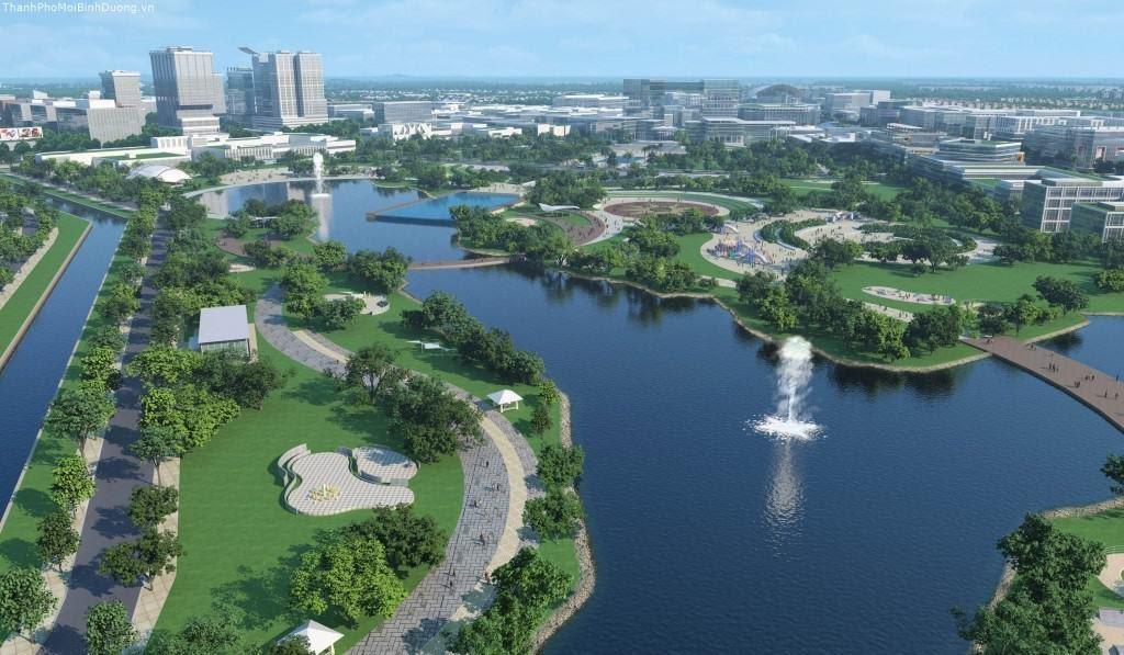 Công viên là tiêu điểm của thành phố Bình Dương